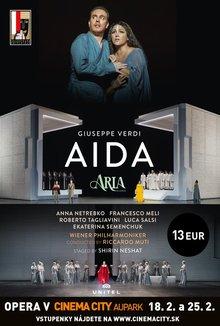 Opera v Cinema City: Aida poster